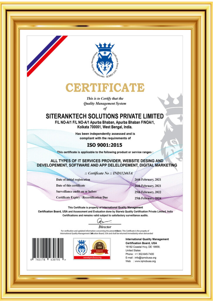 siteranktech - ISO Certified